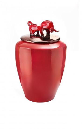 Amalfi rosso con toro rosso