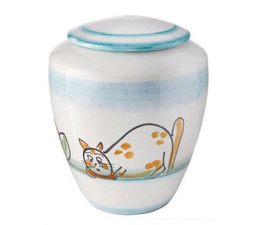 Cinerary urn Amalfi cat
