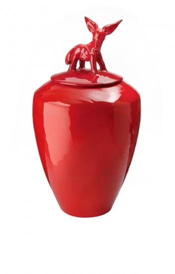 Amalfi rosso con asinello rosso